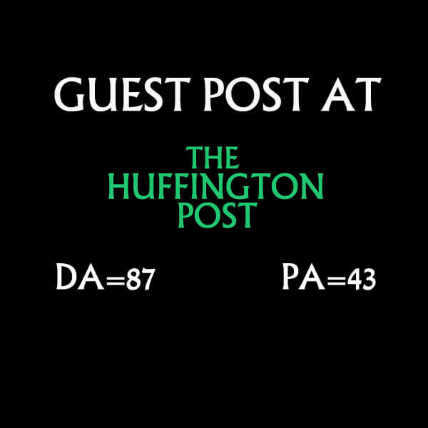 I will do Guest Post on Huffingtonpost