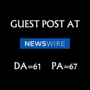 Publish a guest post on NewsWire