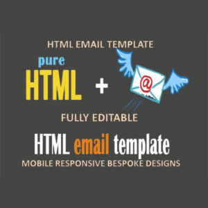 We will design and code a fully responsive editable html email template