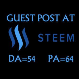 Write And Publish A Guest Post On Steemit DA54 Nofollow Backlinks