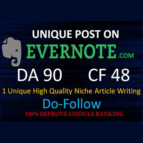 Write And Publish Your High DA 90 Unique Evernote Guest Post